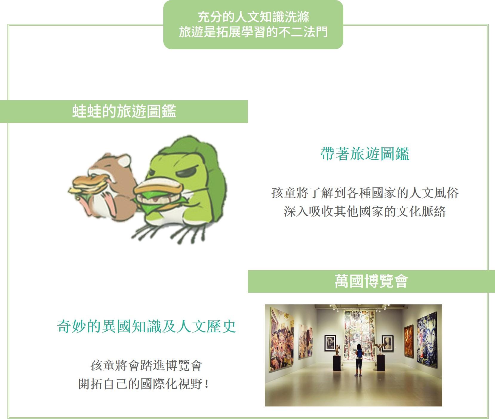 旅行青蛙結合各國日本知識,結合孩童的夏令營