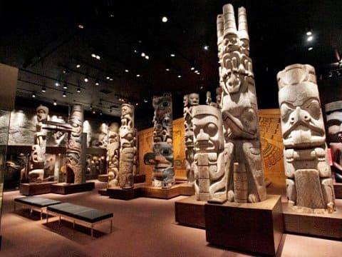 參觀哥倫比亞博物館內的收藏品